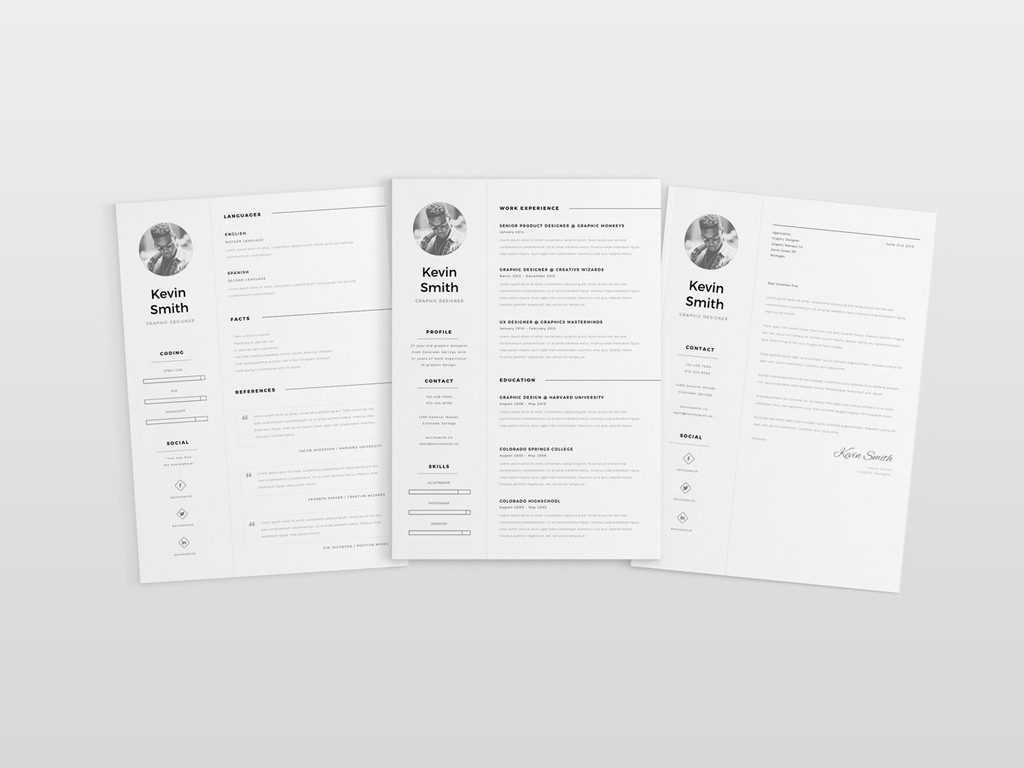 Free Minimal CV Template by CreativeBooster