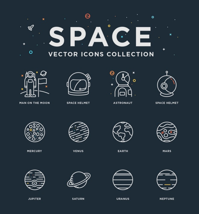 Space - Free Vector Icons Collection