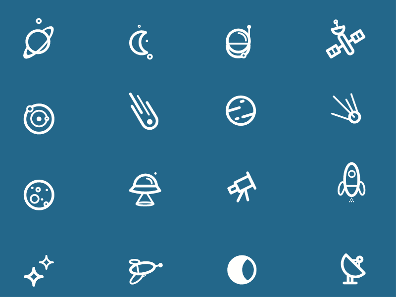 Vector Space Icons Freebie