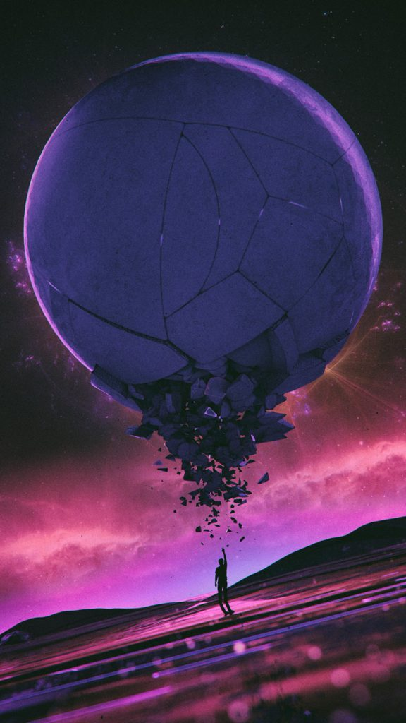Synthwave iPhone Wallpaper