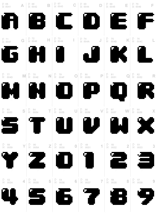 30  best free pixel fonts