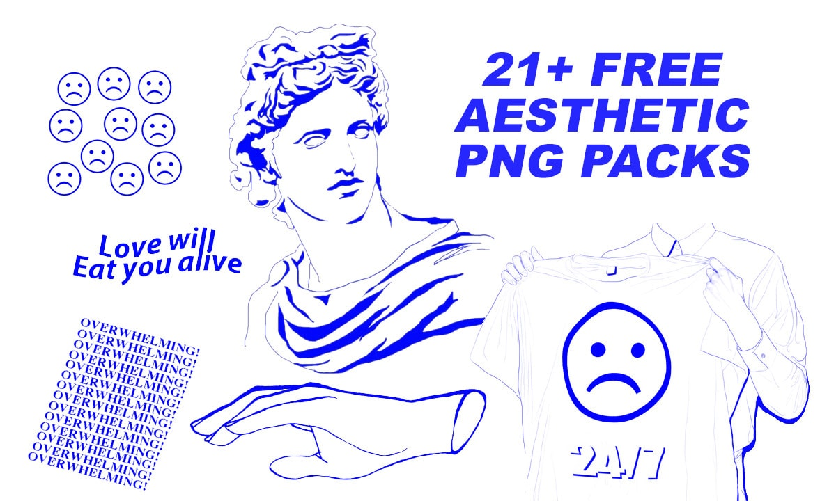 21+ Free Aesthetic PNG packs - Hipsthetic