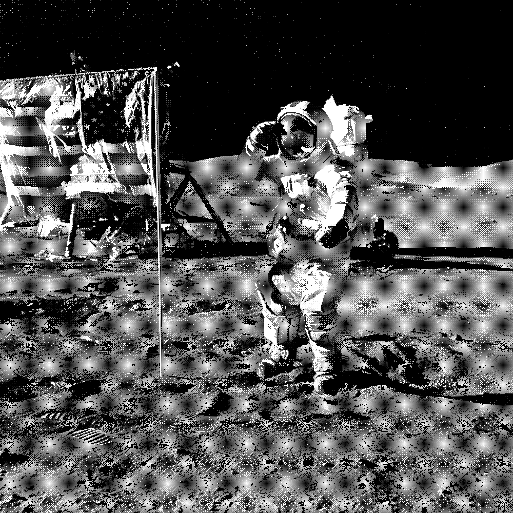 Astronaut ditherBayer Glitch Images Online