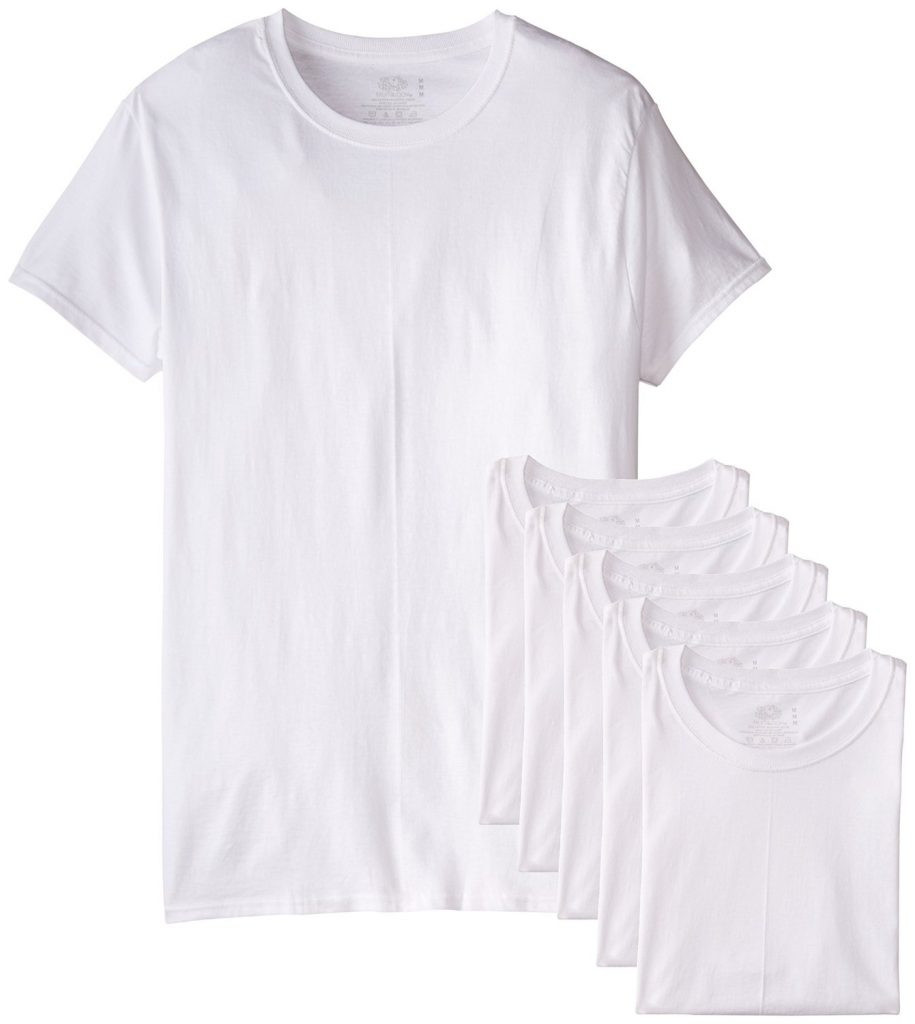 Normcore Fruit of the Loom White Crew Neck Tee