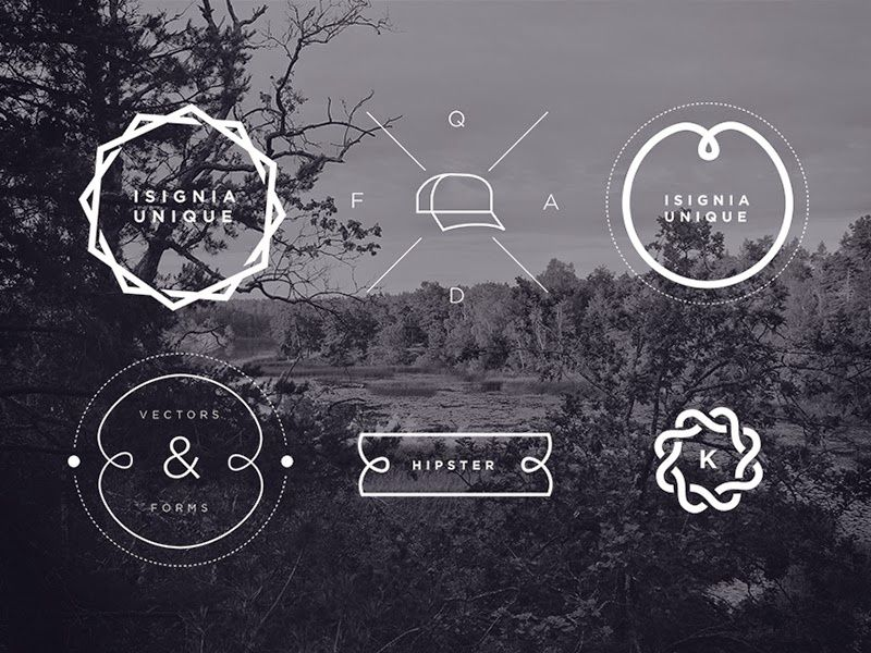 Free Hipster Insignia Template Set