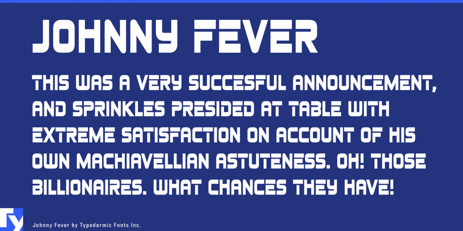 Johnny Fever Free 80's Font