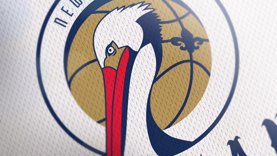 Addison Foote New Orleans Pelicans NBA Logo Redesign Mock-Up