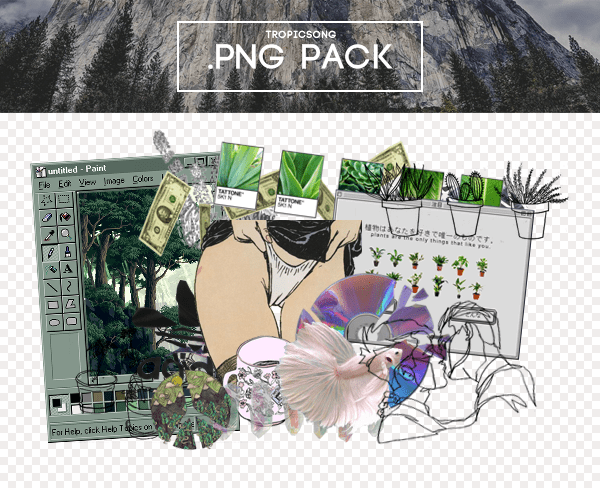Pale Net Art PNG Pack by tropicsong