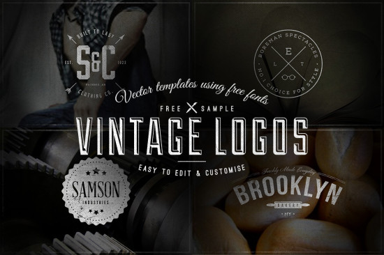 13+ Free Vector Hipster Logo Template Sets | Hipsthetic