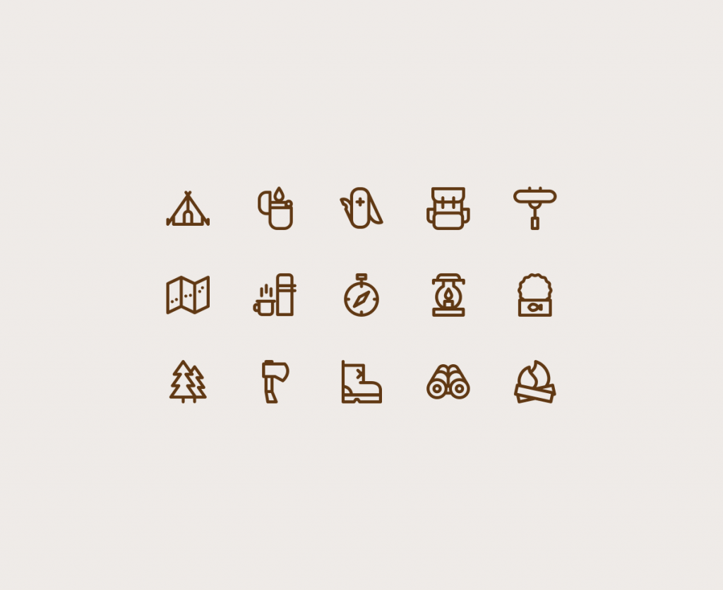 15 Free Camping Vector Icons