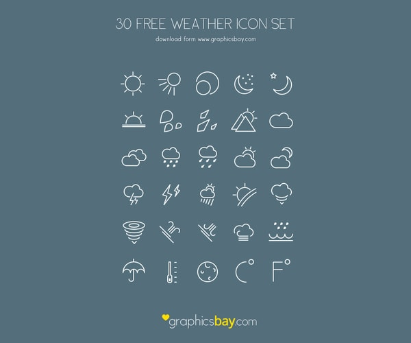30 Free AI Weather Icons