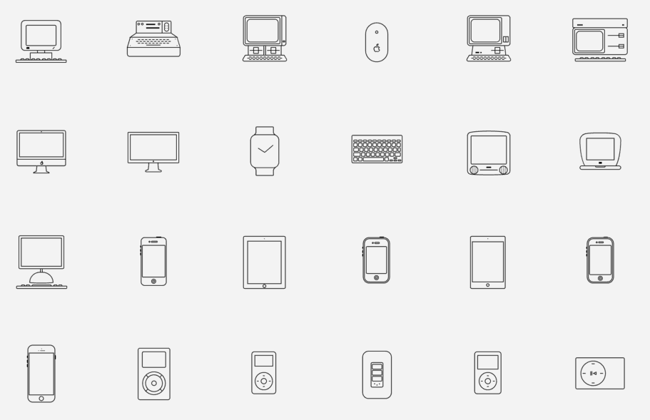 11+ Essential Apple Device, UI and UX Vector Icon Sets - Hipsthetic