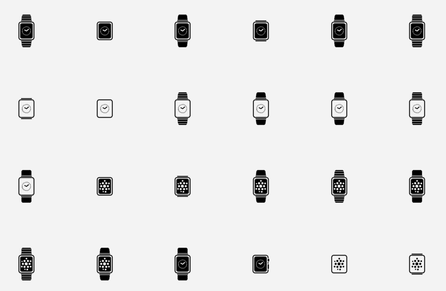 Free Apple Watch Flat Vector Icons