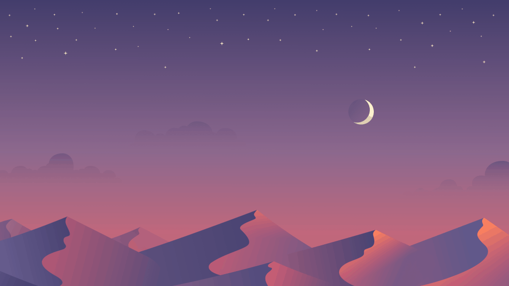 Desert Night Desktop Wallpaper by Maria Shanina