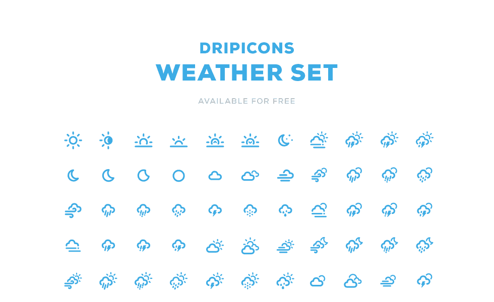 Dripicons - Free Weather Icons