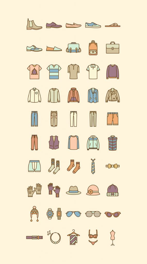 Fashion Vector Icon Set