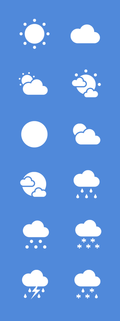 Free Flat Weather Vector Icon Set