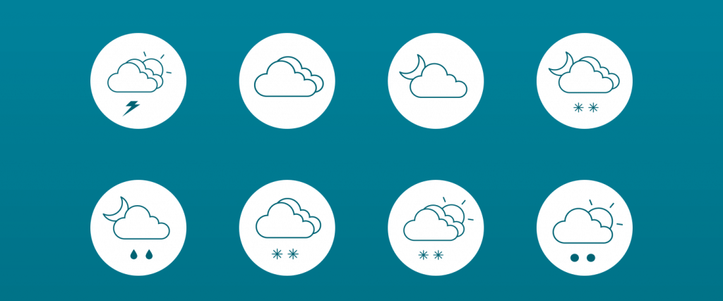 Free Vector Weather Line Icons