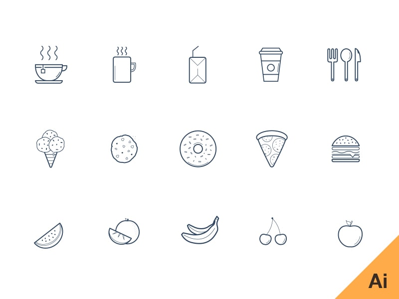 Freebie   Kitchen Vector Icons Part 96