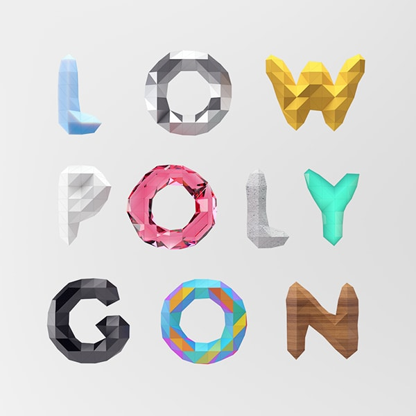 Free Low Polygonal Font