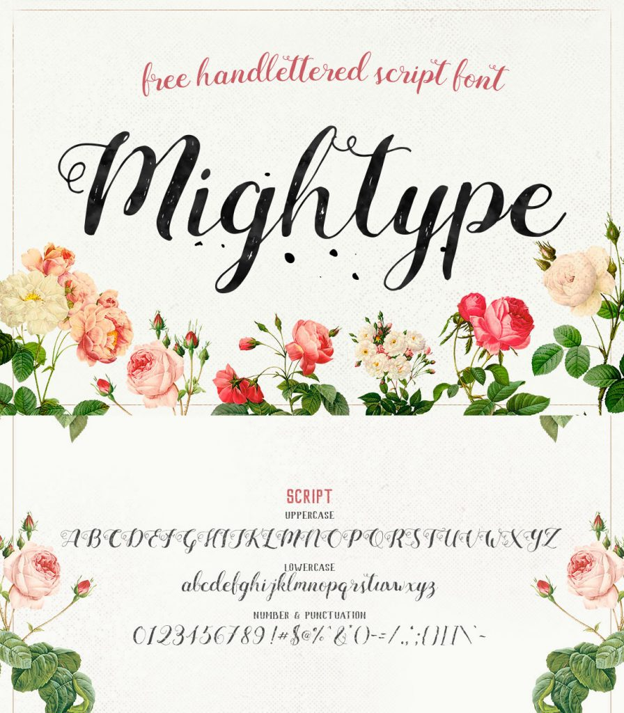Mightype - Free Script Font