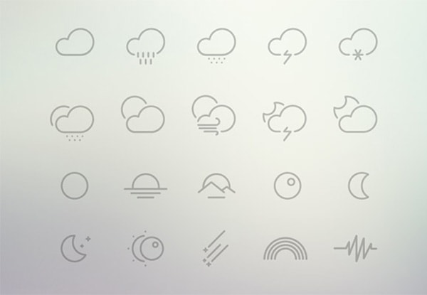 61 Outlined Vector Weather Icons