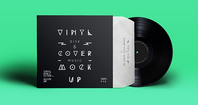 Free Psd Vinyl Cover Record Mock-Up