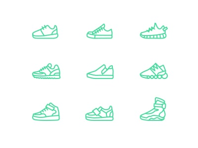 Sneaker Vector Icon Set