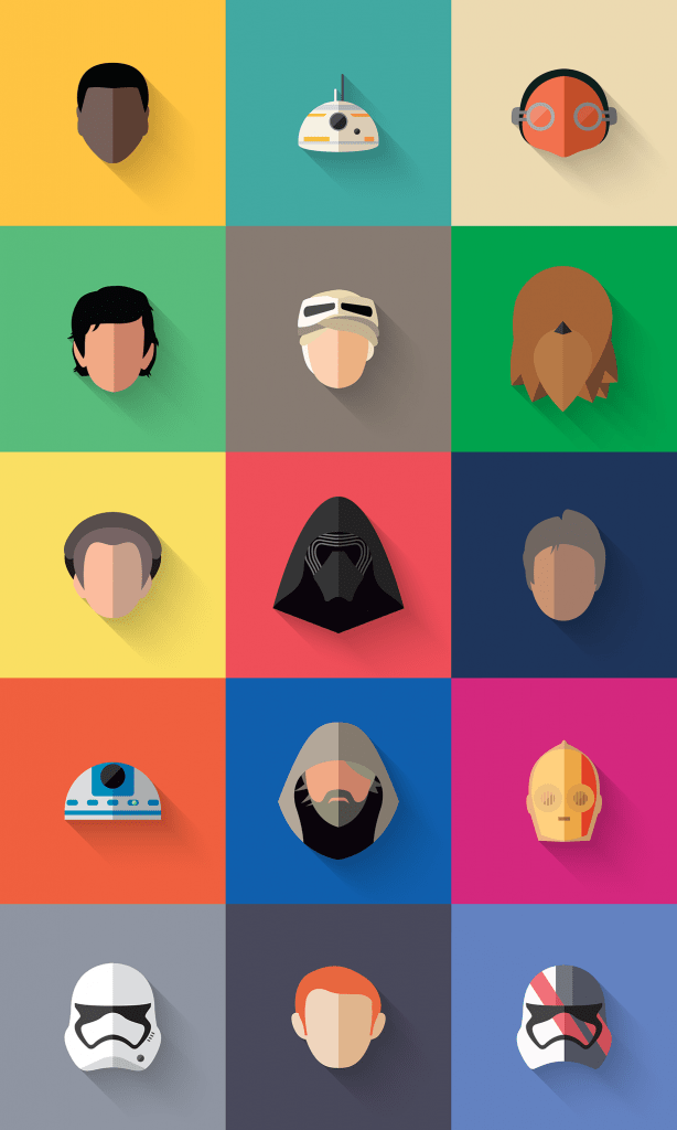 Star Wars Flat Vector Icons