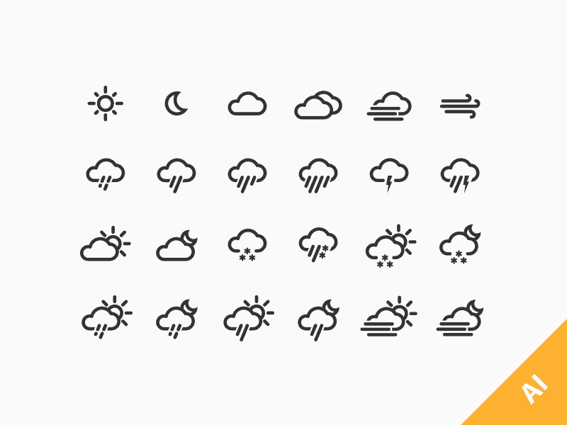 Free Weather Icons by Jakob Treml
