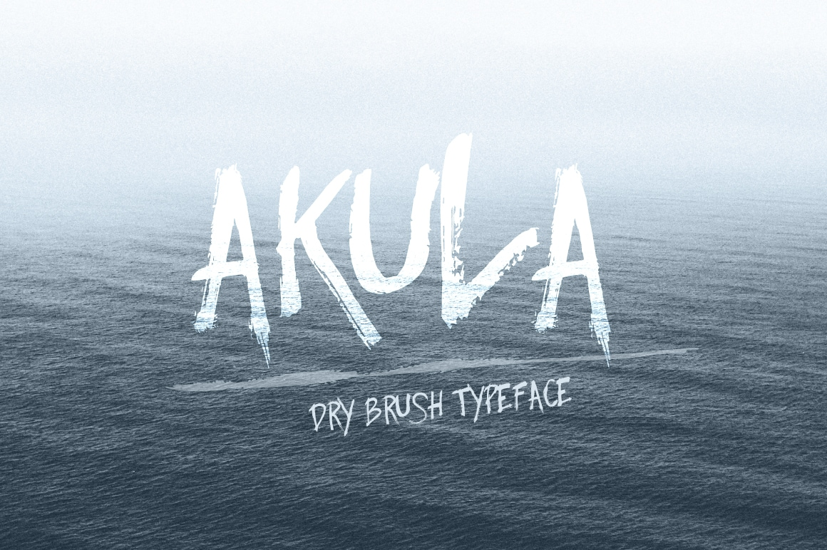 Akula - Best Premium Brush Font