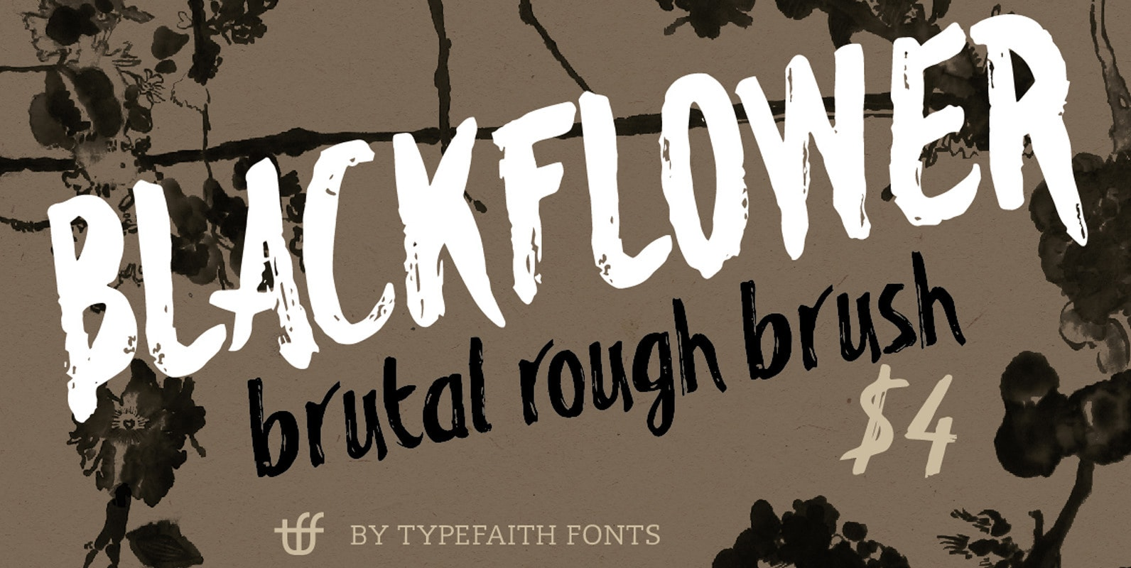 Blackflower - Rough Premium Brush Font