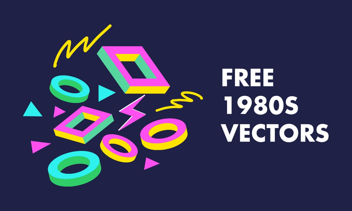 16 Free 80s Vectors Patterns Electronics And People