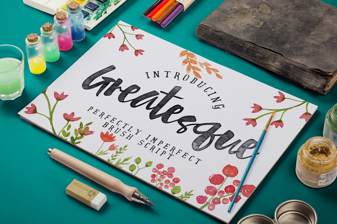 Greatesque - Premium Brush Script Font