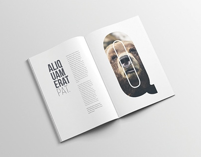 Advanced A4 Magazine PSD Mockup