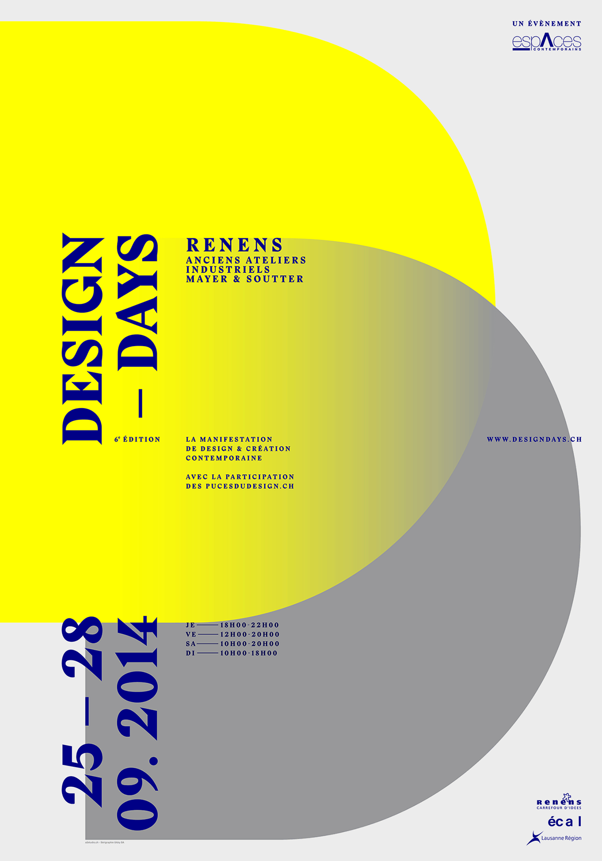 Swiss Style Poster for Design Days 2014