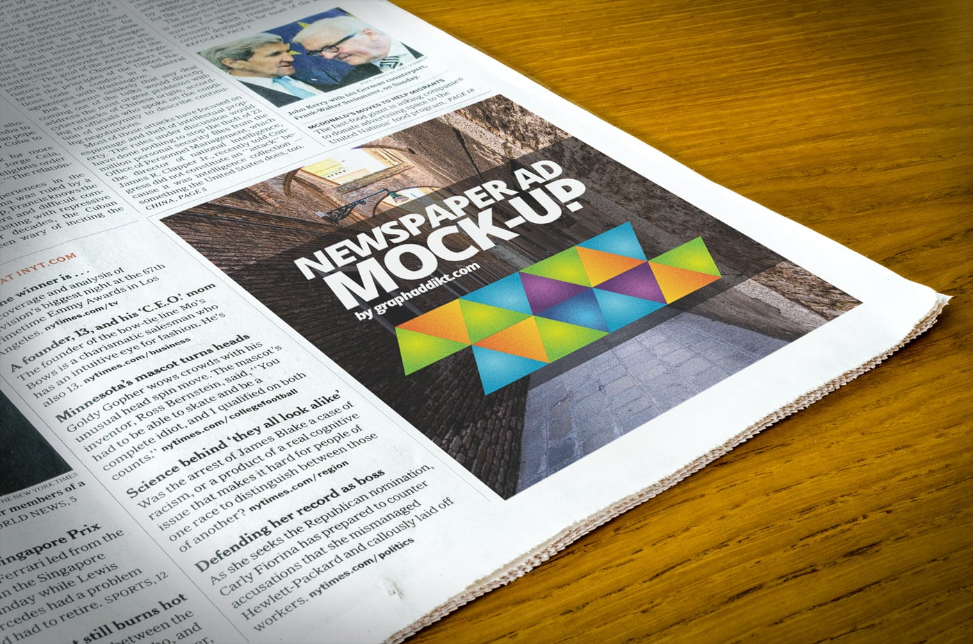 the best free psd newspaper mockups
