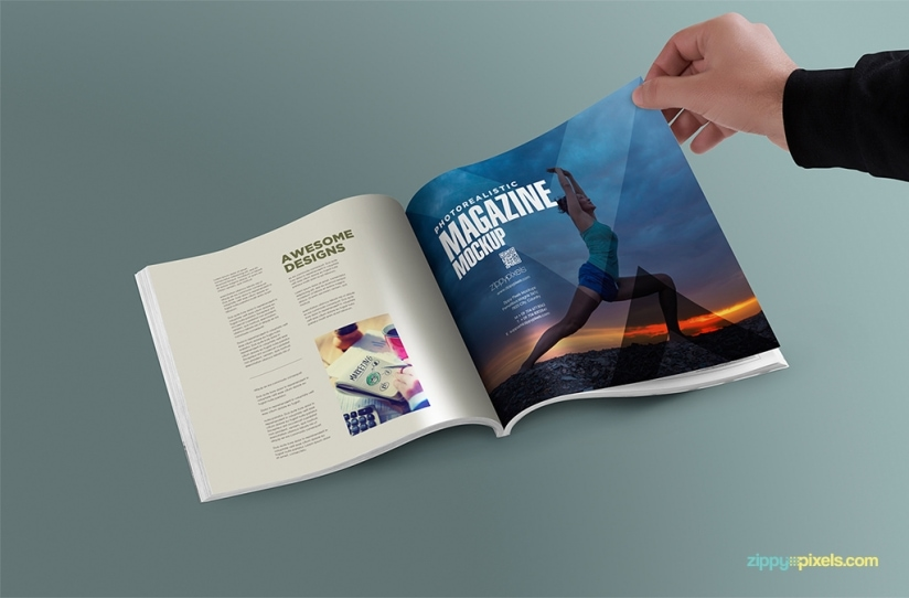 The best 15 free psd magazine mockups hipsthetic free square magazine psd mockup pronofoot35fo Choice Image