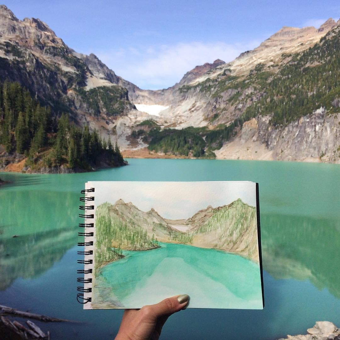 Blanca Lake by Hannah Jesus