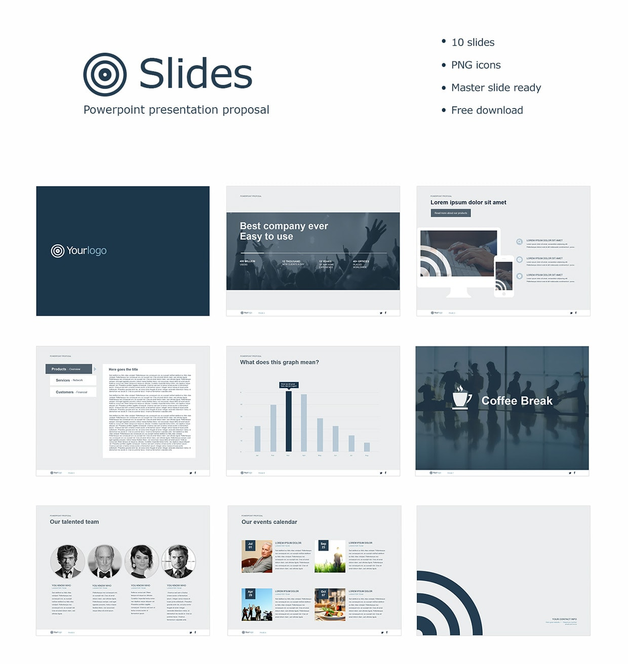 Free Powerpoint Template - Slides
