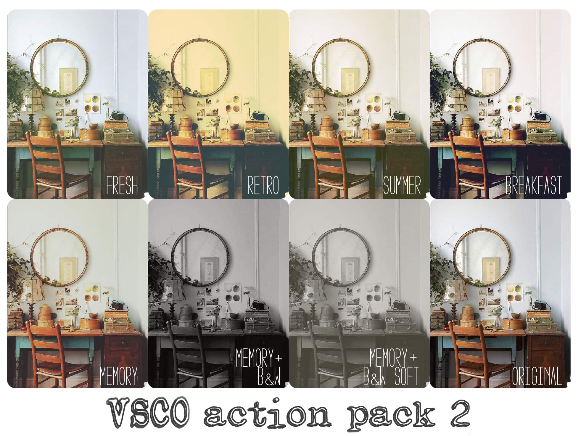 VSCOish Photoshop Actions