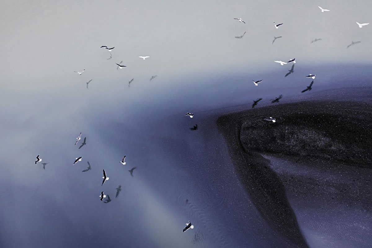 Aerial Abstract of Iceland by Zack Seckler