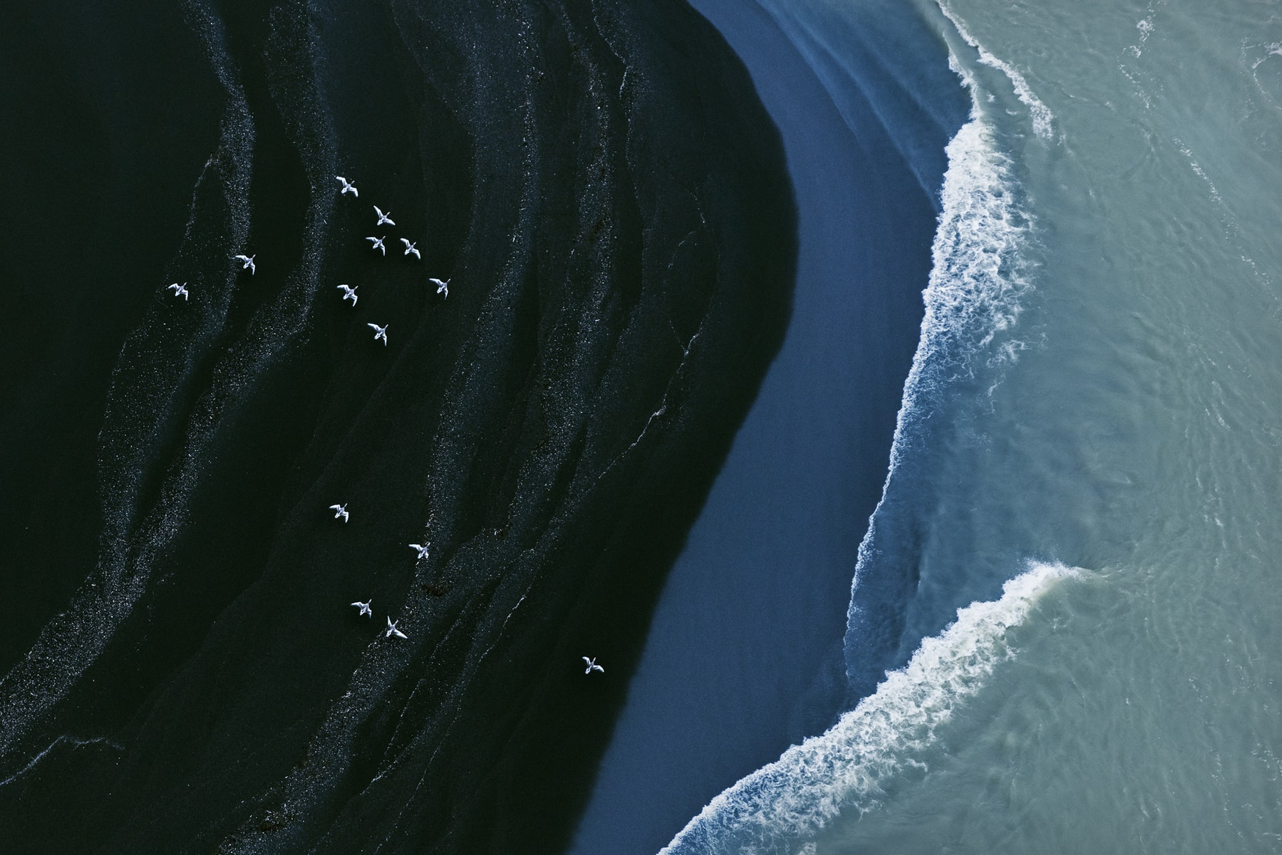 Iceland Aerial Abstract by Zack Seckler