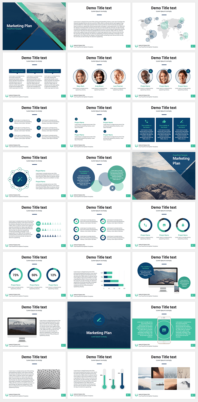 Free Powerpoint Template - Marketing Plan