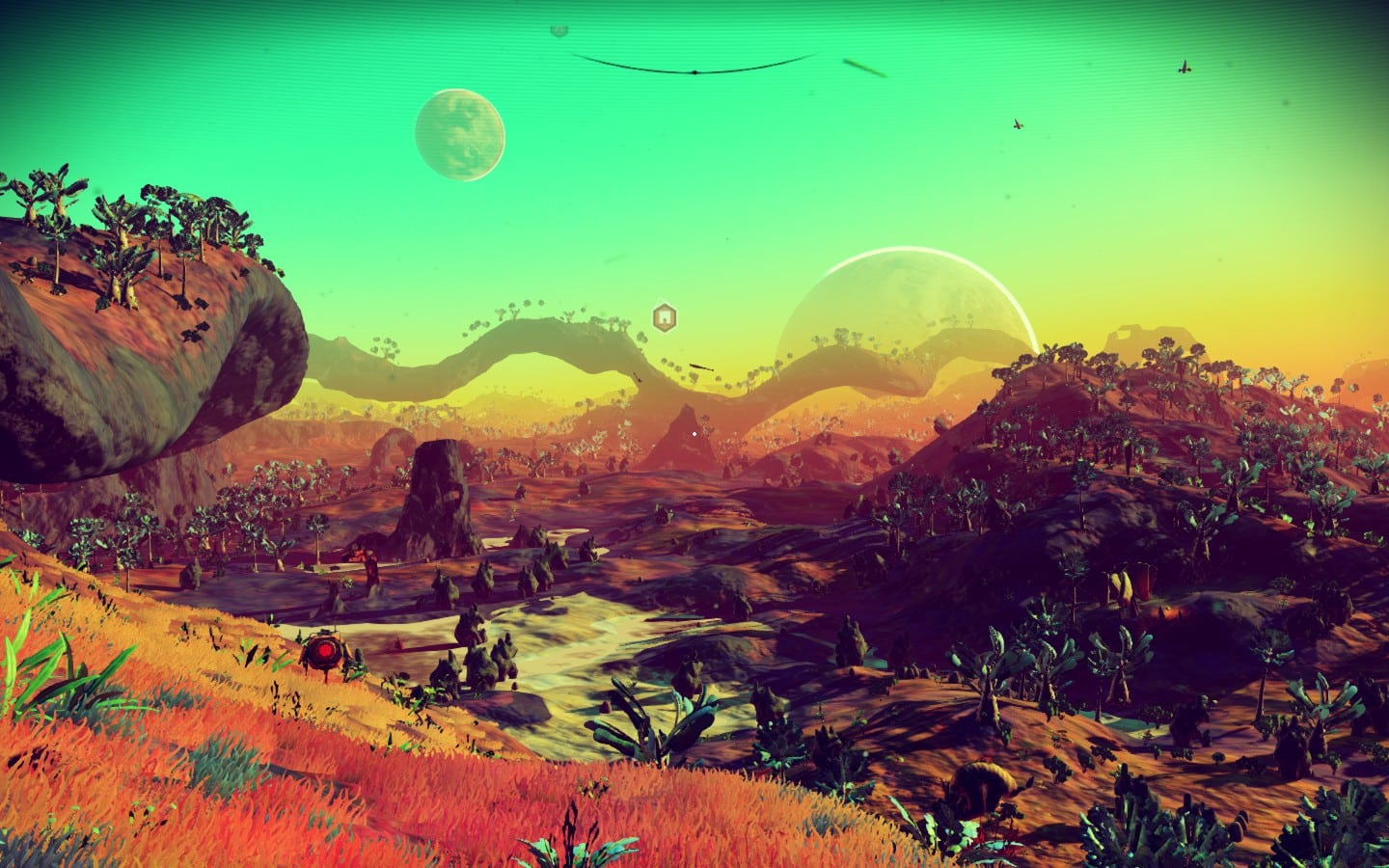 No Mans Sky - Lush Reddit Planet Screenshot