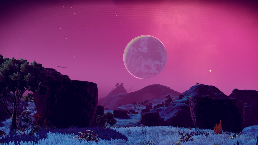 Pink Sky Screenshot - No Mans Sky
