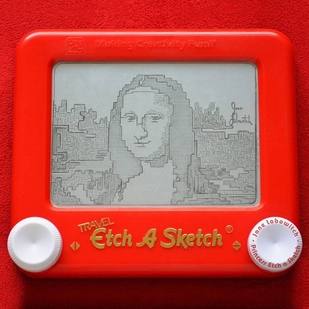 Mona Lisa by Princess Etch A Sketch