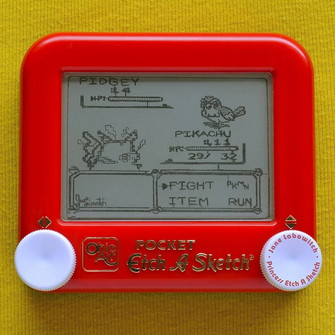 Pokemon by Princess Etch A Sketch