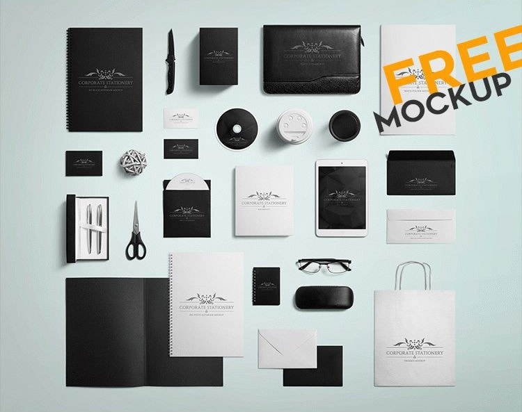 Fre Corporate Stationary PSD Mockup