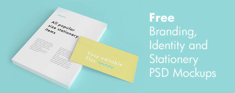 Free PSD Branding, Identity and Stationery Mockups